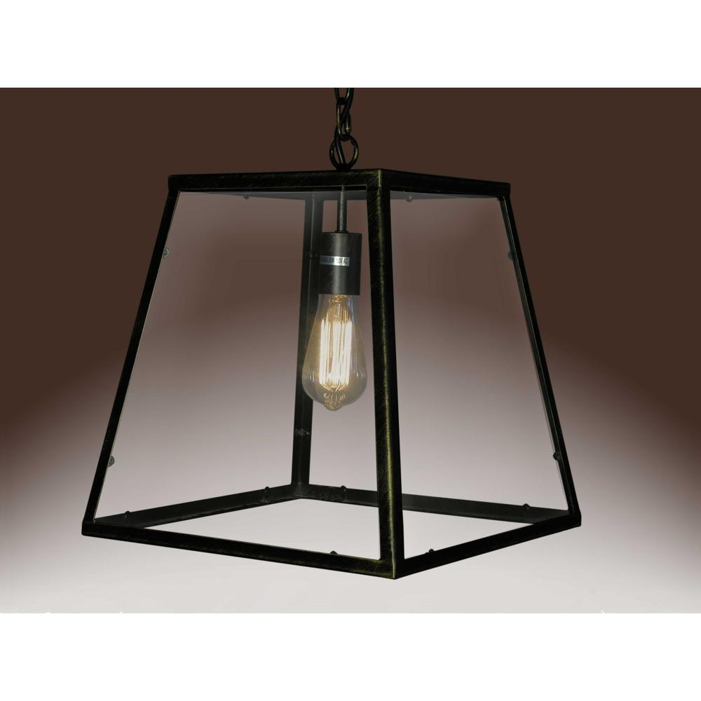 Lucy 1-light Black Edison Lamp with Bulb - 246144. Picture 1