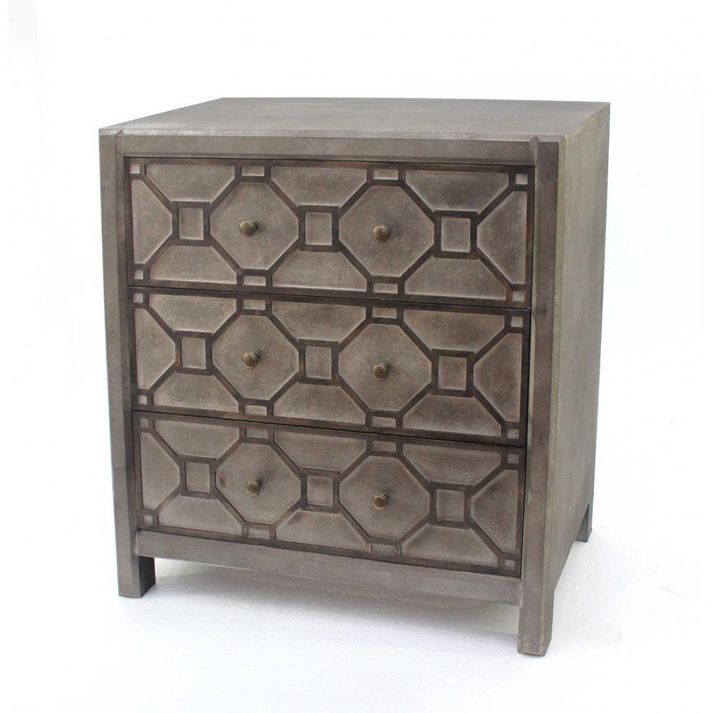 "16"" x 30"" x 31"" Brown, 3 Drawer, Quaint Vintage, Wood - Cabinet - 274367. Picture 1"