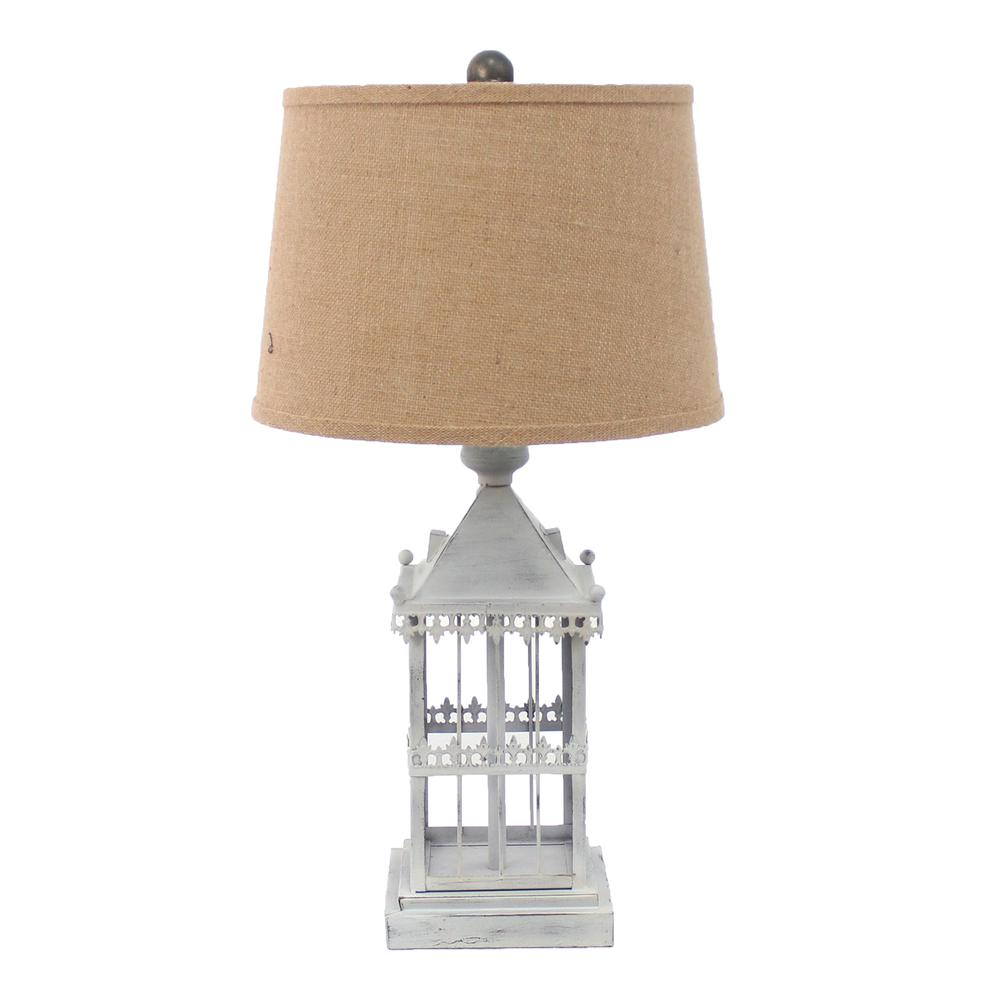"""15"""" x 12"""" x 25.75"""" Gray, Country Cottage, Castle - Table Lamp - 274465. Picture 1"""