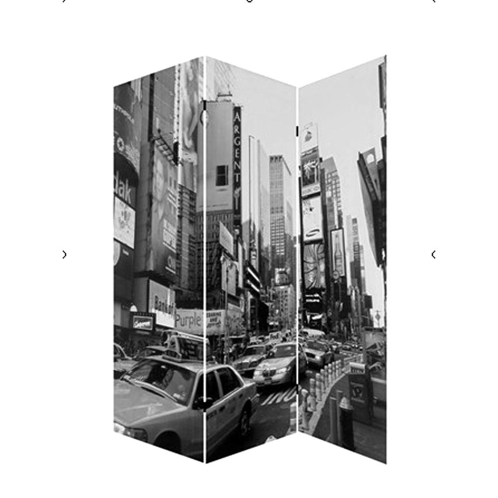 """1"""" x 48"""" x 72"""" Multi Color Wood Canvas New York City  Screen - 274622. Picture 1"""
