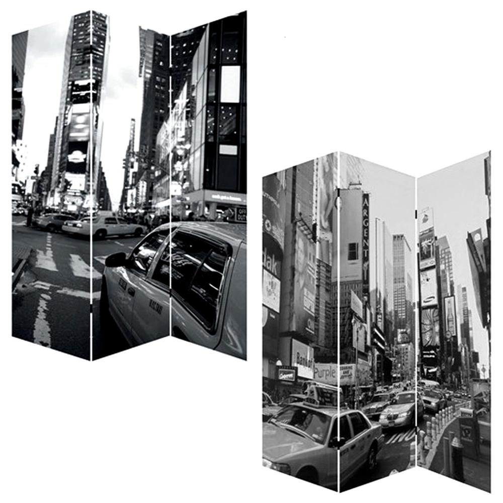 """1"""" x 48"""" x 72"""" Multi Color Wood Canvas New York City  Screen - 274622. Picture 3"""
