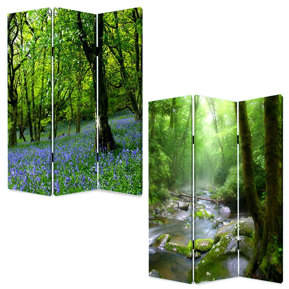 """1"""" x 48"""" x 72"""" Multi Color Wood Canvas Meadows And Streams  Screen - 274623. Picture 3"""