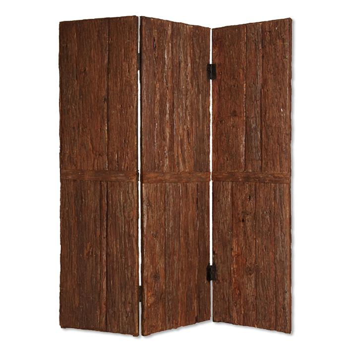 """1"""" x 62"""" x 72"""" Brown Wood Tahoe  Screen - 274745. Picture 1"""