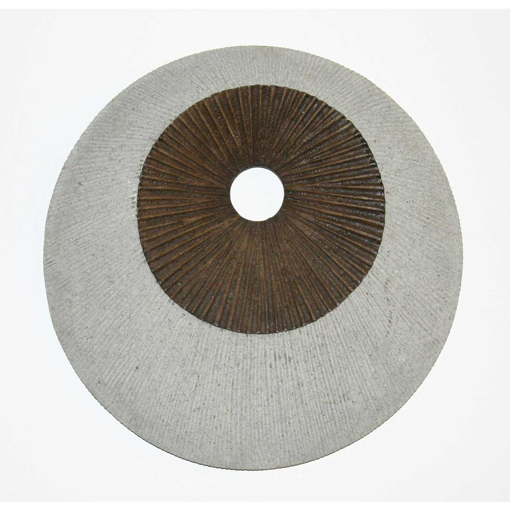 """1"""" x 19"""" x 19"""" Brown & Gray Round Double Layer Ribbed  Wall Decor - 274769. Picture 1"""
