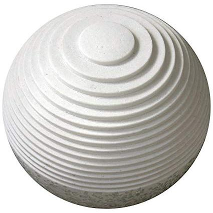 """1"""" x 14"""" x 12"""" White, Round With Lines And Light - Outdoor Ball - 274815. Picture 1"""