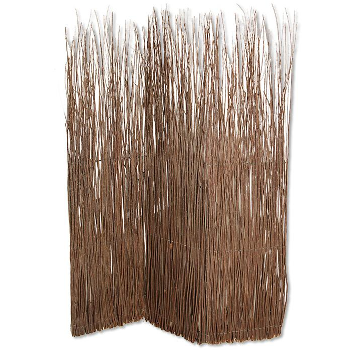 """1"""" x 63"""" x 84"""" Brown Willow Adirondack  Screen - 274854. Picture 1"""