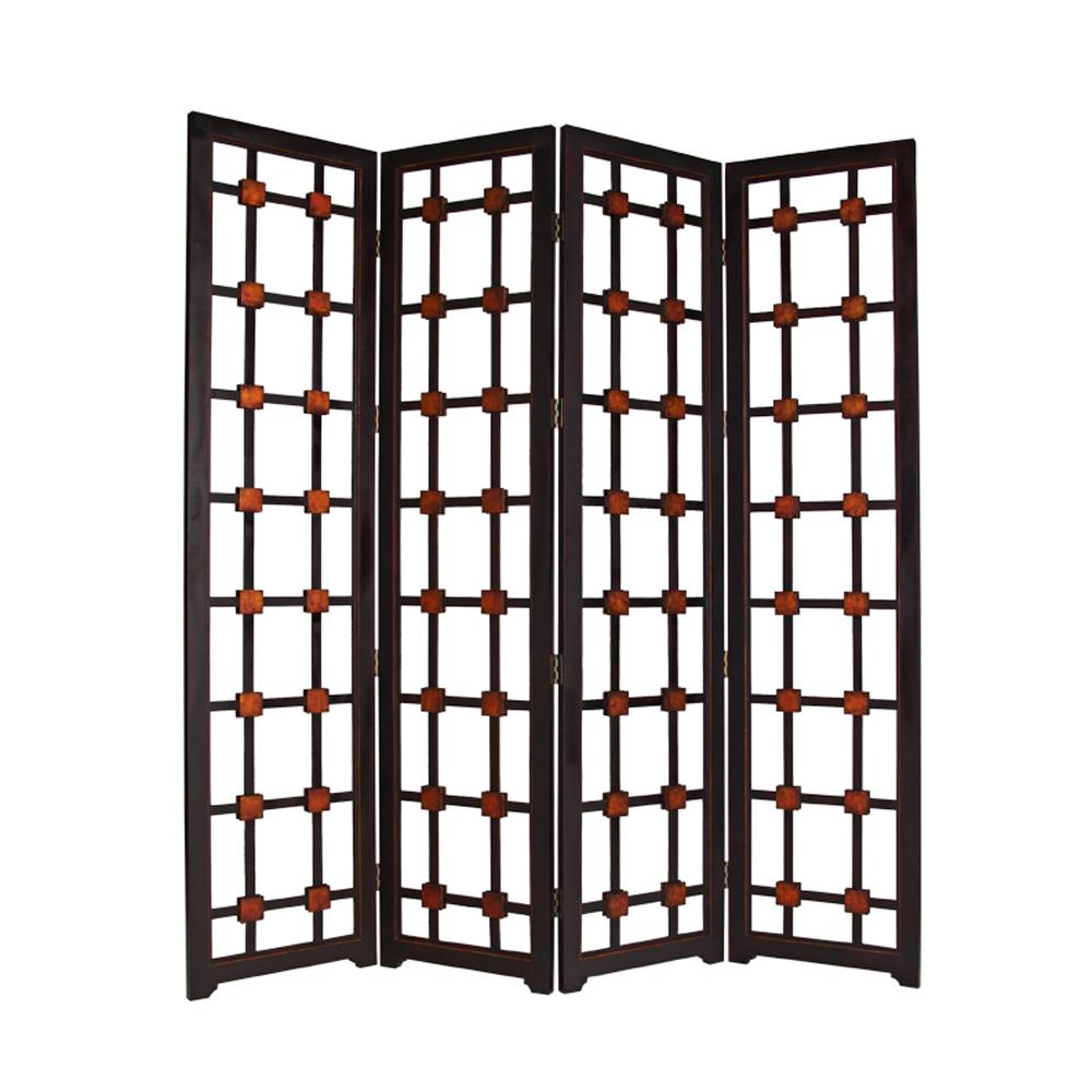 """1"""" x 84"""" x 84"""" Brown Woood  Screen - 274878. Picture 1"""