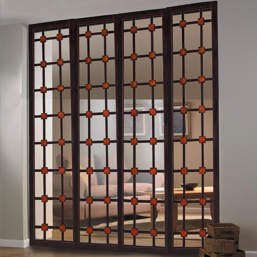 """1"""" x 84"""" x 84"""" Brown Woood  Screen - 274878. Picture 2"""