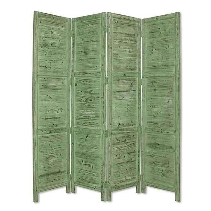 """1"""" x 76"""" x 84"""" Green Wood Screen - 274882. Picture 1"""