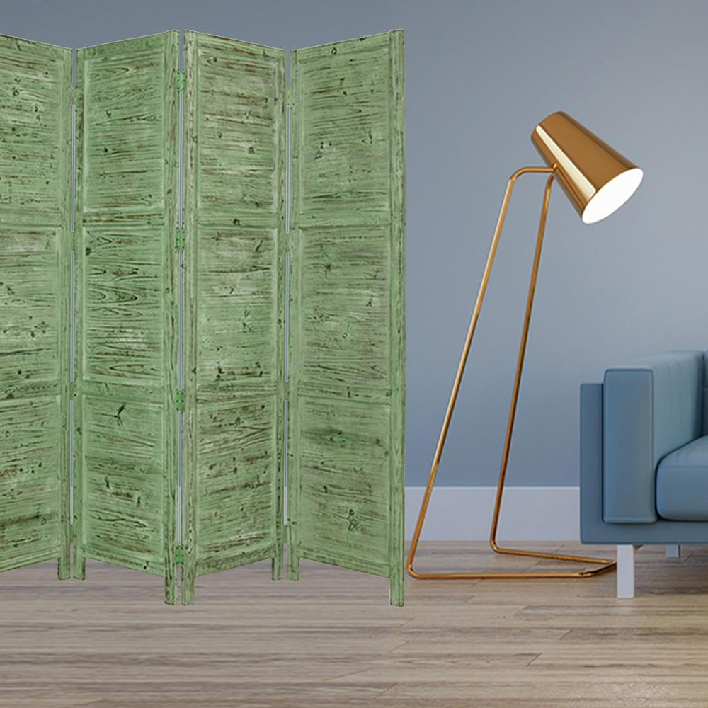 """1"""" x 76"""" x 84"""" Green Wood Screen - 274882. Picture 2"""