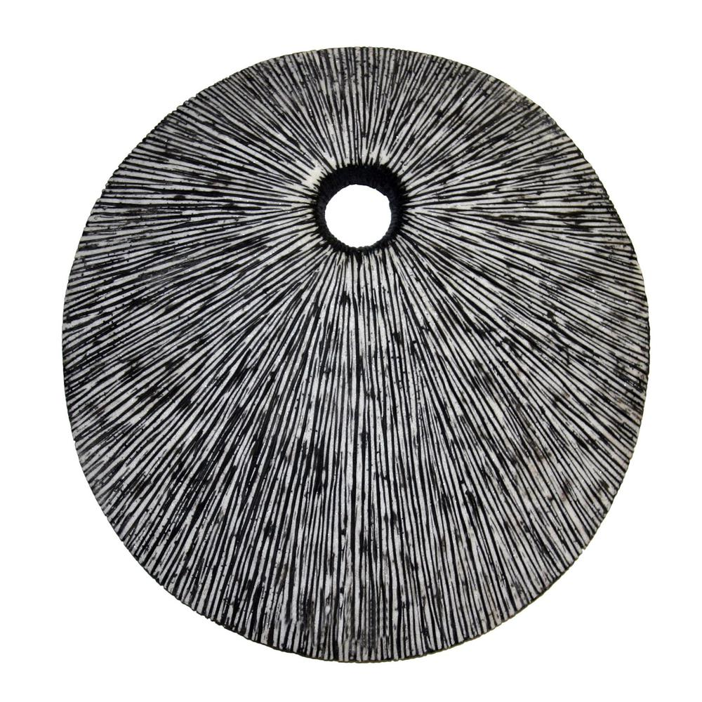 """20"""" Contemporary Grey Round Wall Art - 274915. Picture 1"""