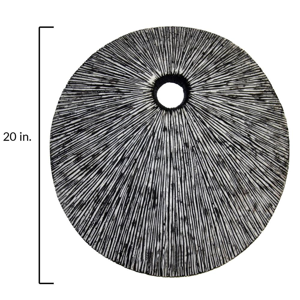"""20"""" Contemporary Grey Round Wall Art - 274915. Picture 2"""