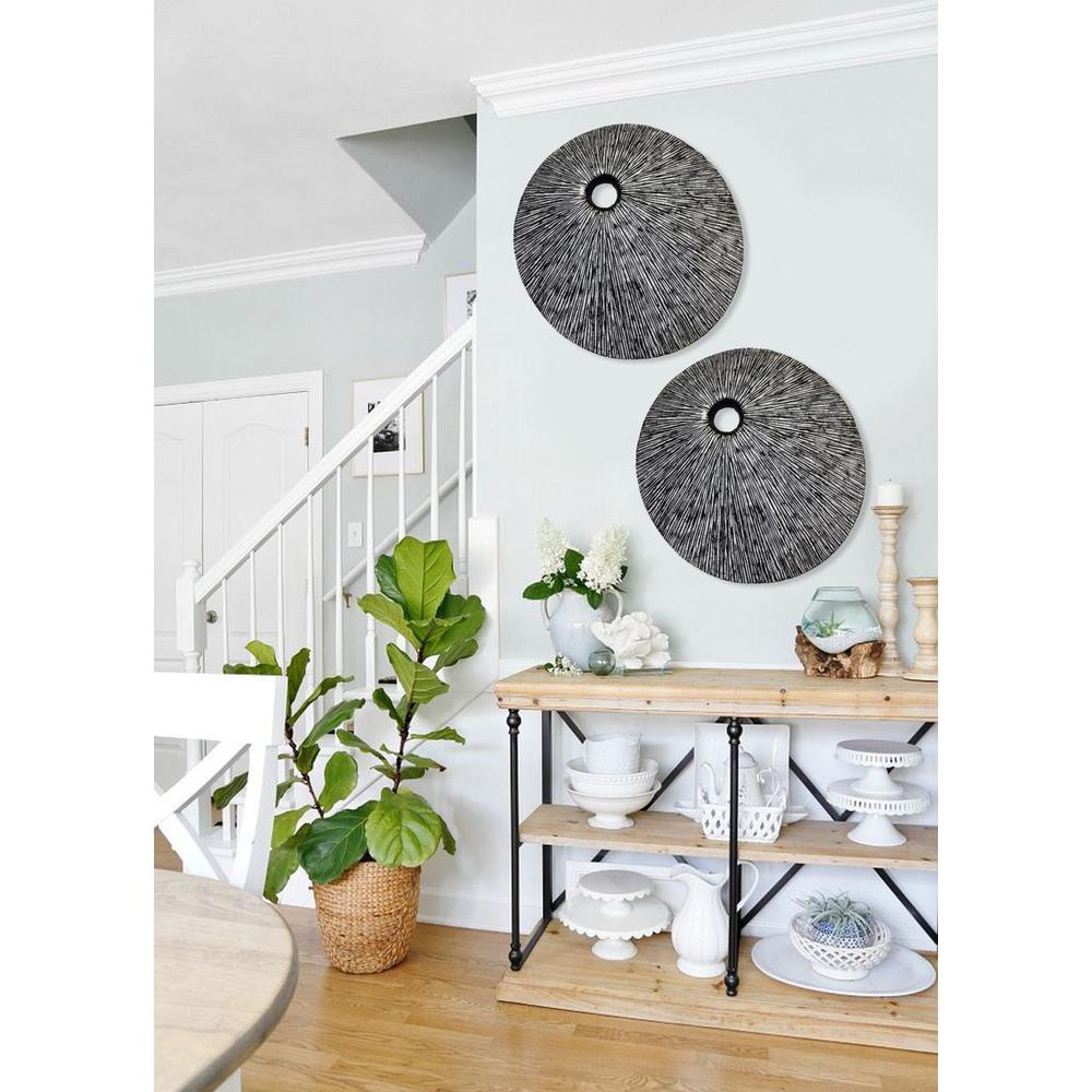 """20"""" Contemporary Grey Round Wall Art - 274915. Picture 4"""