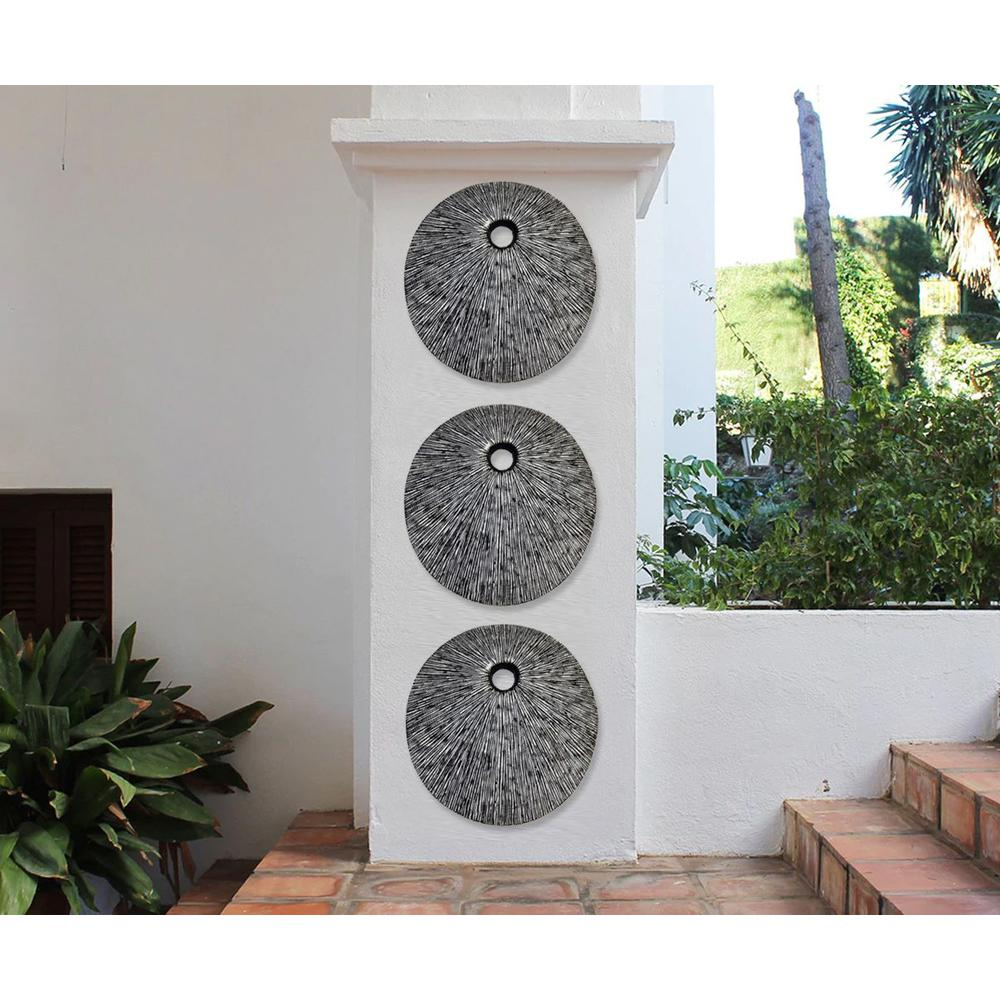 """20"""" Contemporary Grey Round Wall Art - 274915. Picture 5"""