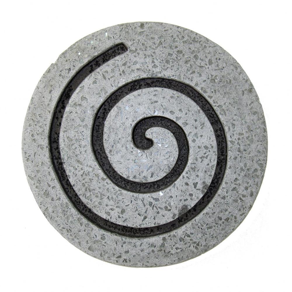 "19"" Gray Round Modern Spiral Wall Art - 274932. Picture 1"