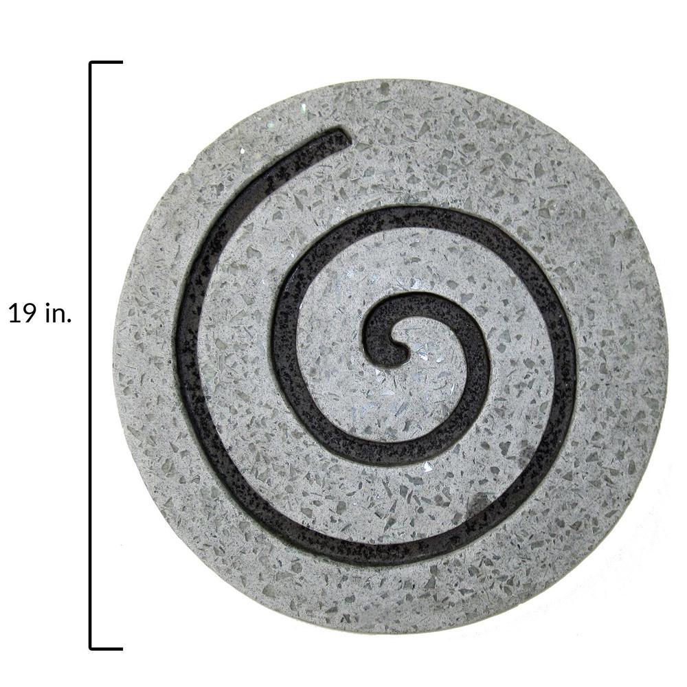 "19"" Gray Round Modern Spiral Wall Art - 274932. Picture 2"