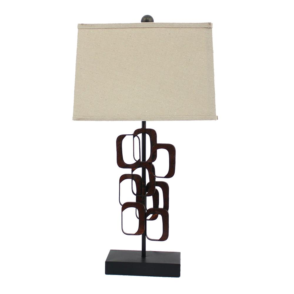 """13"""" x 15"""" x 31"""" Bronze, Traditional - Table Lamp - 277075. Picture 1"""