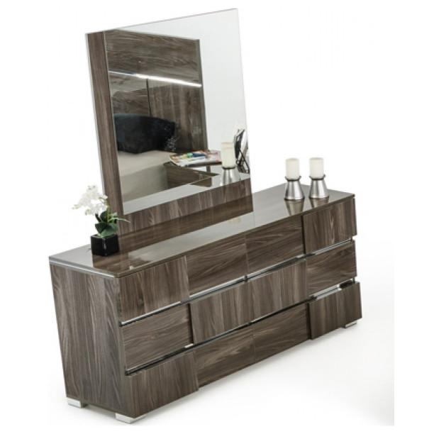"39"" Ebony MDF  Veneer  and Glass Mirror - 282643. Picture 1"