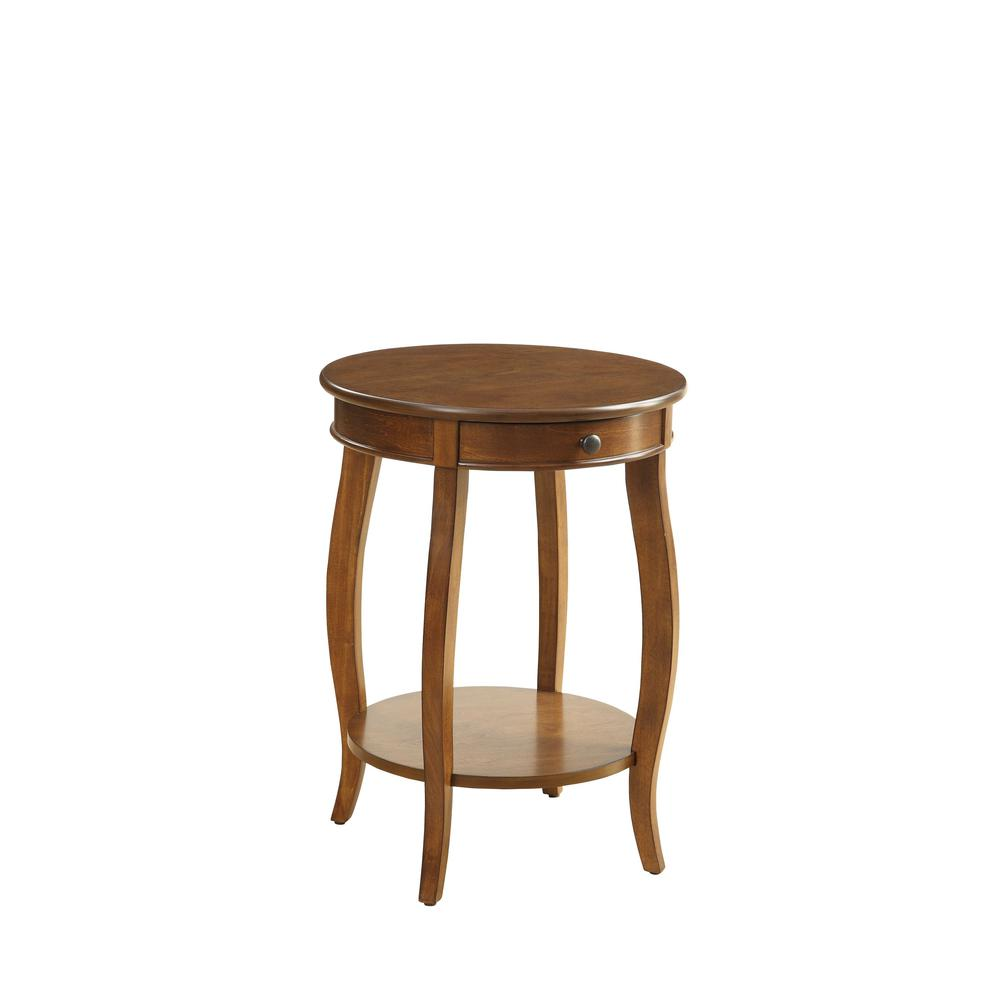 Vintage Look Walnut Finish End Table with Storage - 286303. Picture 1