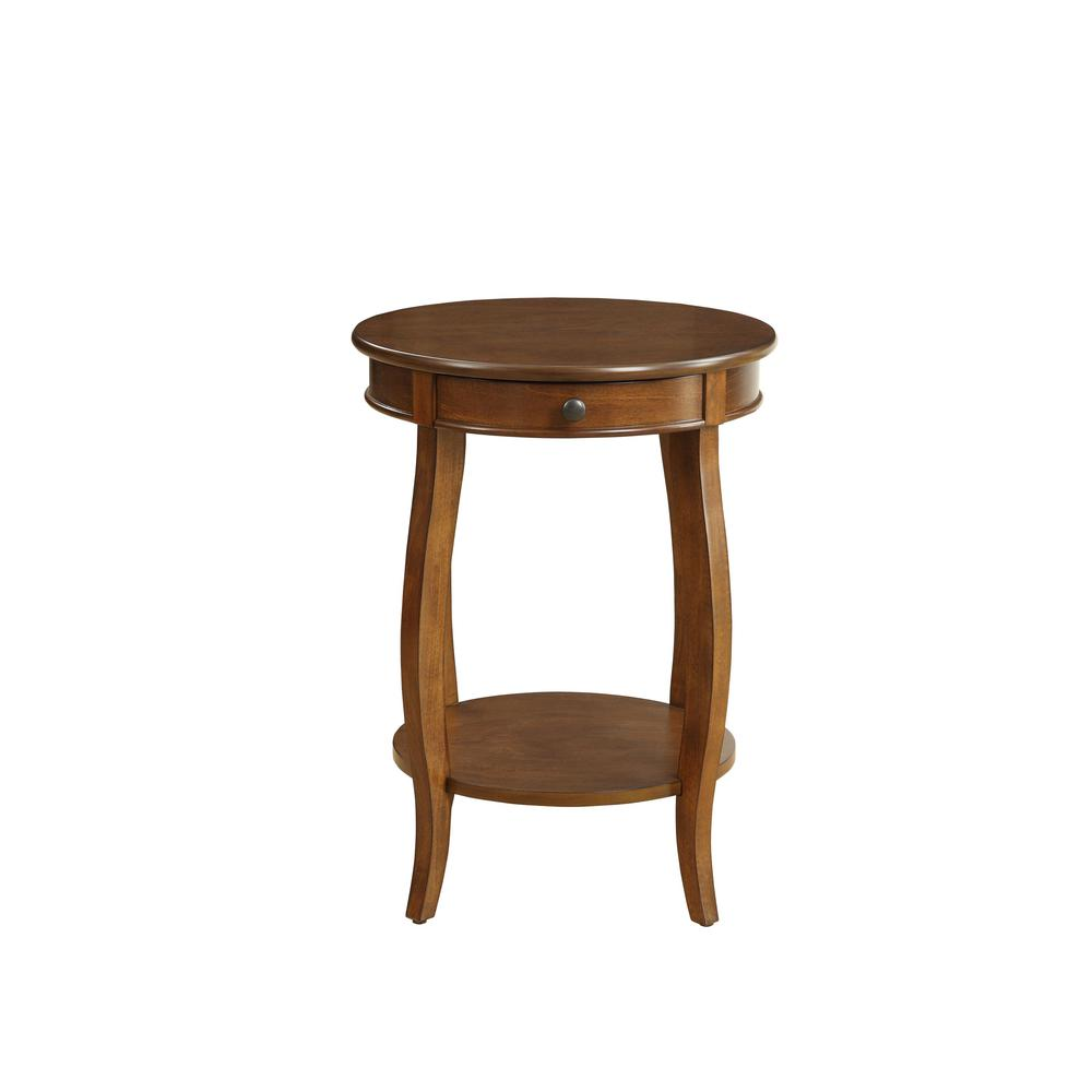 Vintage Look Walnut Finish End Table with Storage - 286303. Picture 2