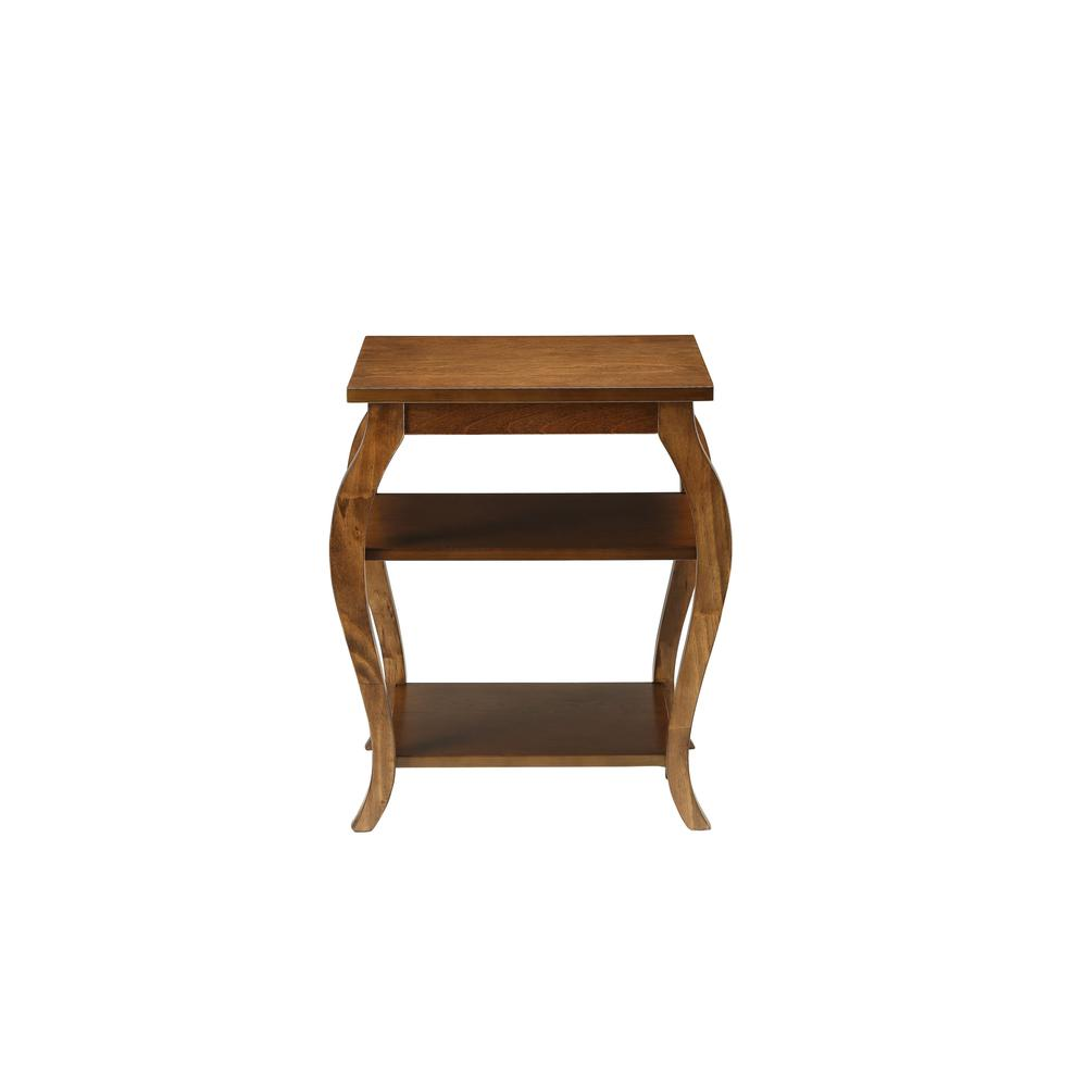Walnut Finish Bow Leg Square End Table - 286311. Picture 2