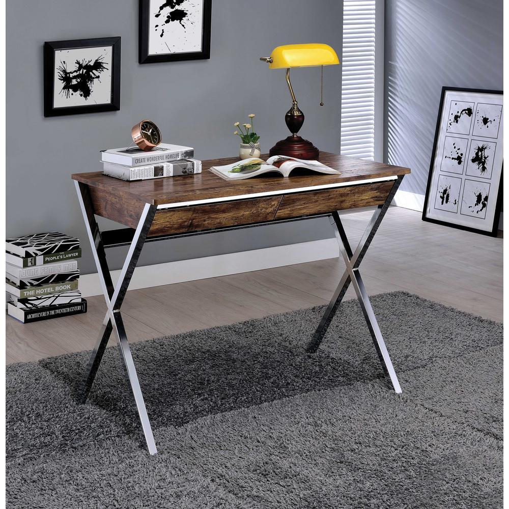 "36"" X 21"" X 30"" Weathered Oak Wood Desk - 286397. Picture 1"