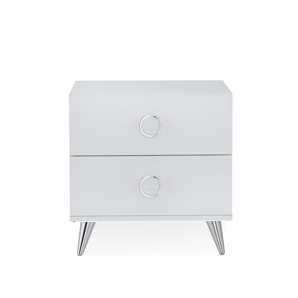 White Wood Rectangular Night Stand - 286440. Picture 1