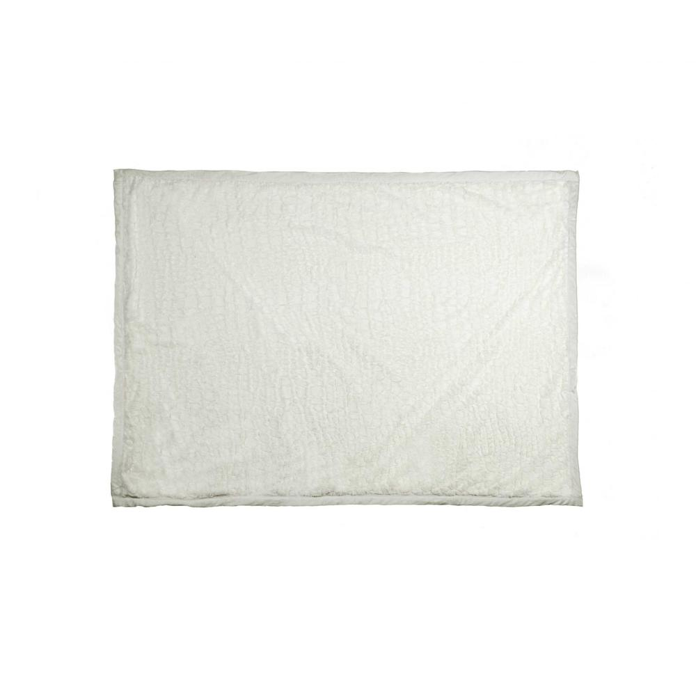"""50"""" x 70"""" Ivory Mink Faux Hide Throw - 293155. Picture 3"""