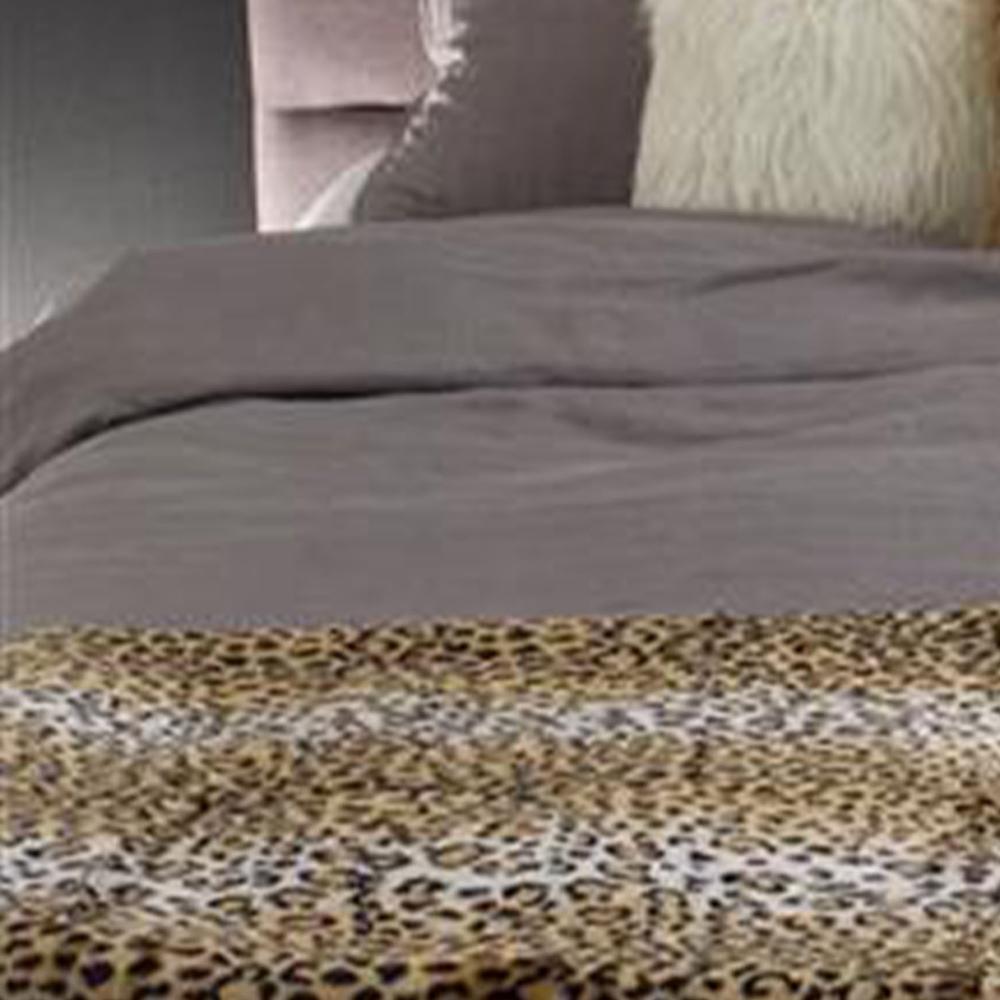 """50"""" x 70"""" Leopard Faux Hide Throw - 293156. Picture 4"""