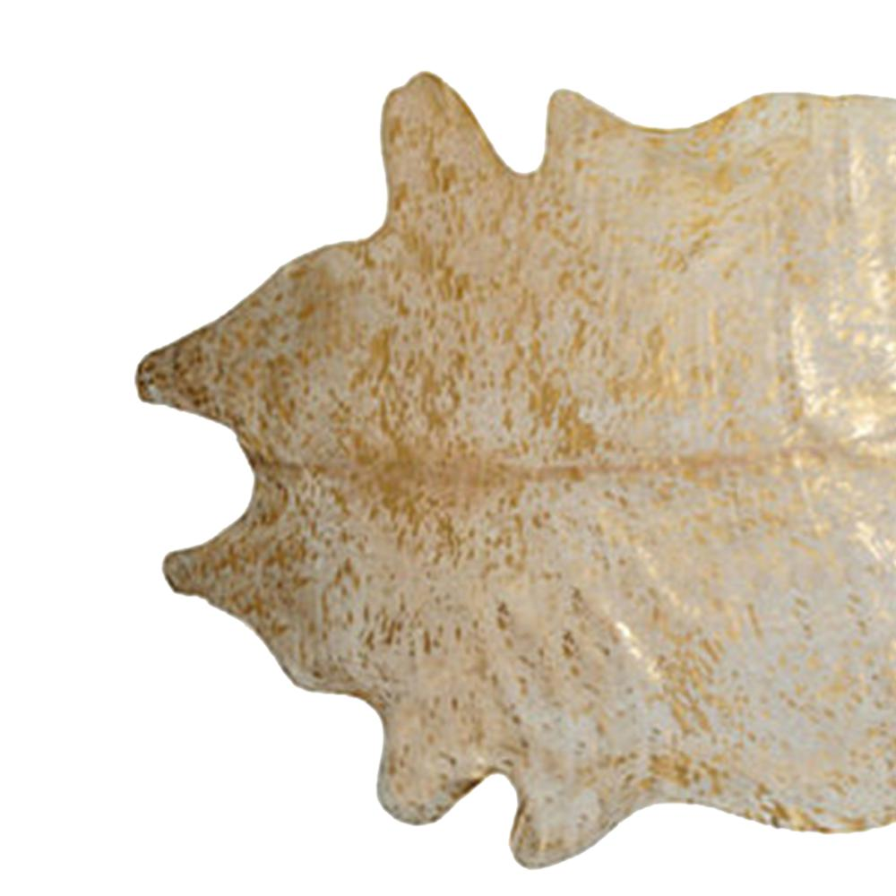6' x 7'  Natural and Gold Genuine Cowhide Area Rug - 293171. Picture 2