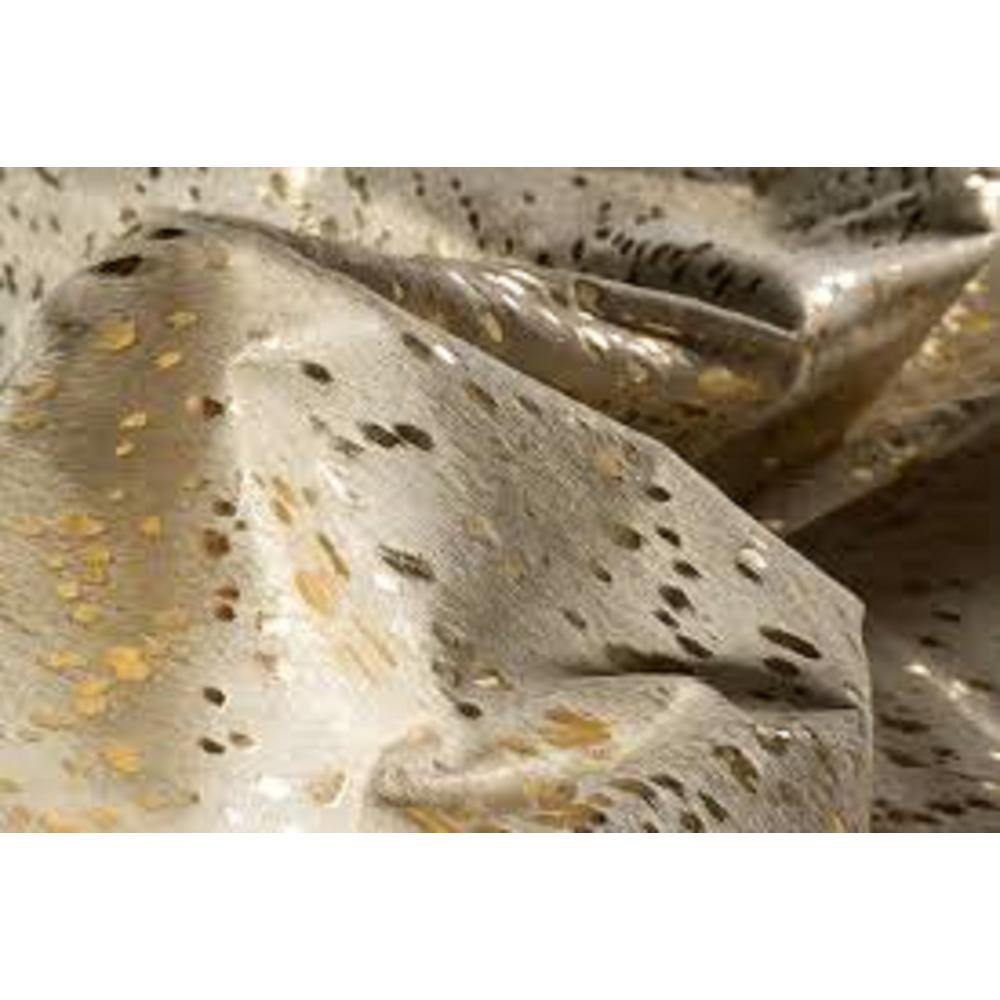 6' x 7'  Natural and Gold Genuine Cowhide Area Rug - 293171. Picture 5