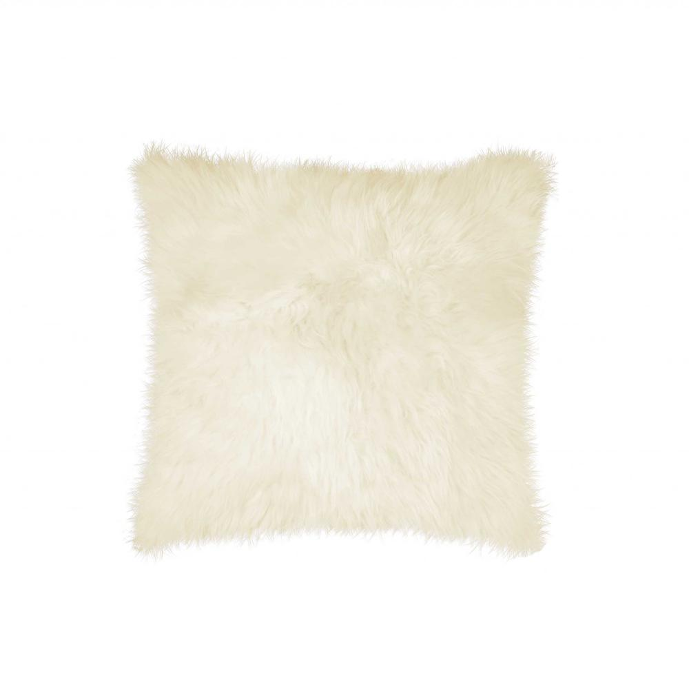 """18"""" x 18"""" Natural Sheepskin Pillow - 293200. Picture 1"""