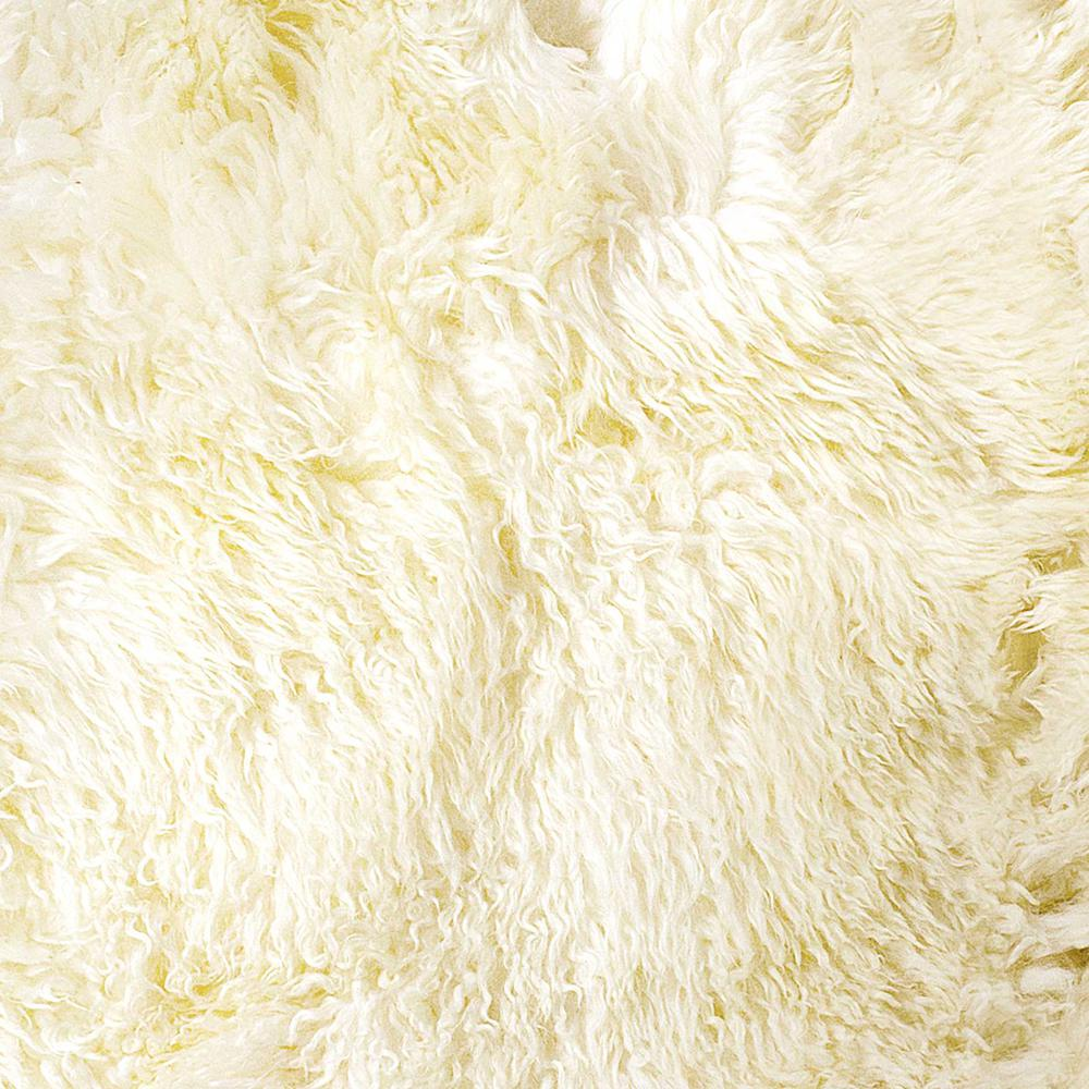 2' x 3'  Natural New Zealand Sheepskin Wool  Area Rug - 294268. Picture 2