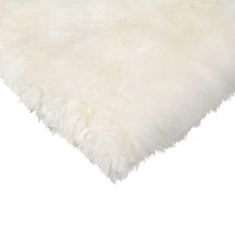 White Natural Sheepskin Chair Seat Cover - 317152. Picture 2
