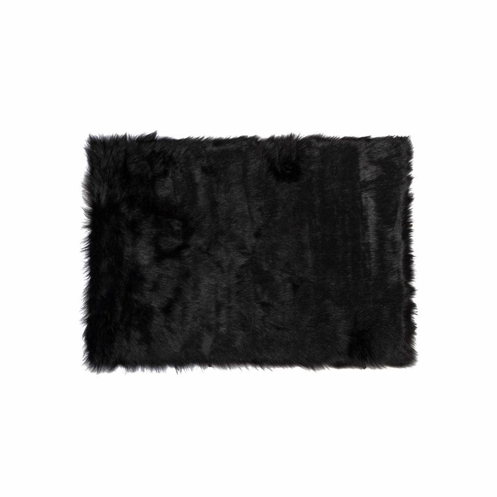"60"" x 96"" Black, Sheepskin - Rug/Throw - 317175. Picture 1"