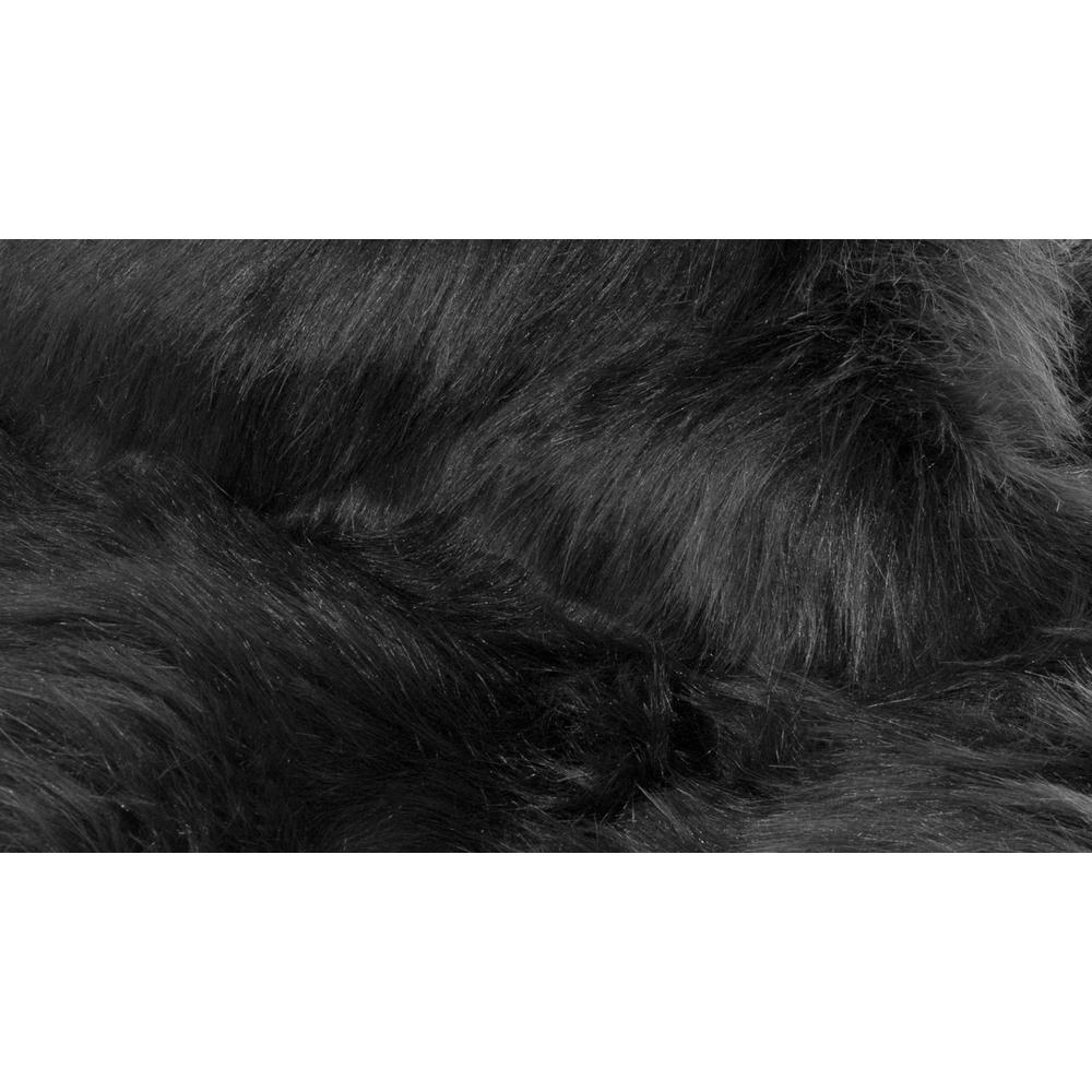 "60"" x 96"" Black, Sheepskin - Rug/Throw - 317175. Picture 2"