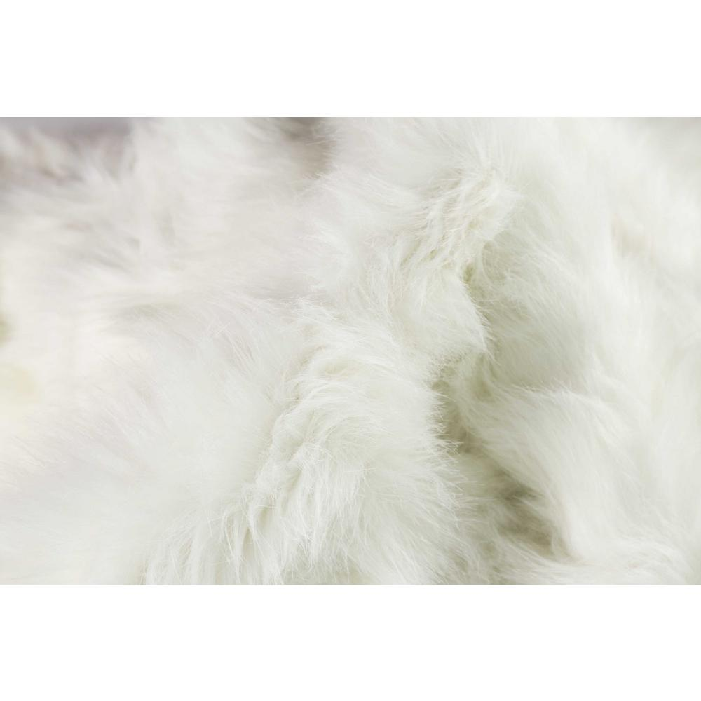 """60"""" x 72"""" x 1.5"""" Off White, Faux Sheepskin - Area Rug - 317188. Picture 2"""