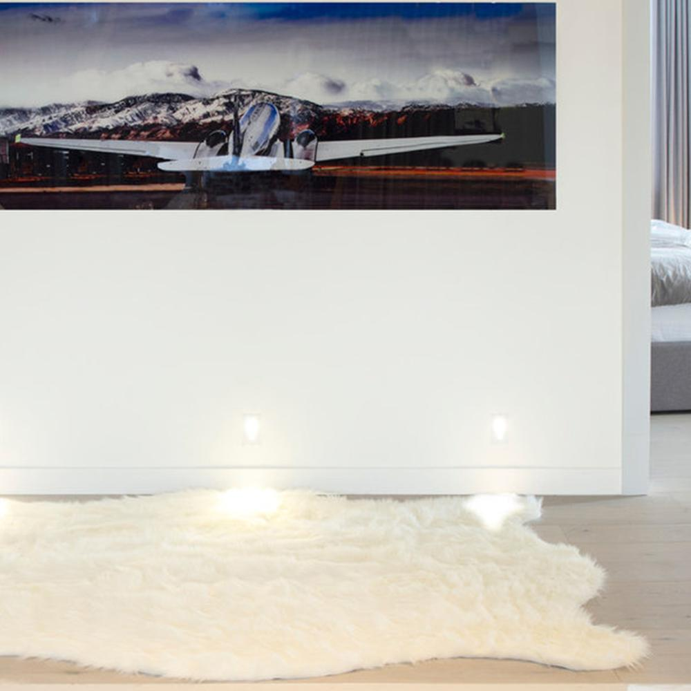 """60"""" x 72"""" x 1.5"""" Off White, Faux Sheepskin - Area Rug - 317188. Picture 4"""