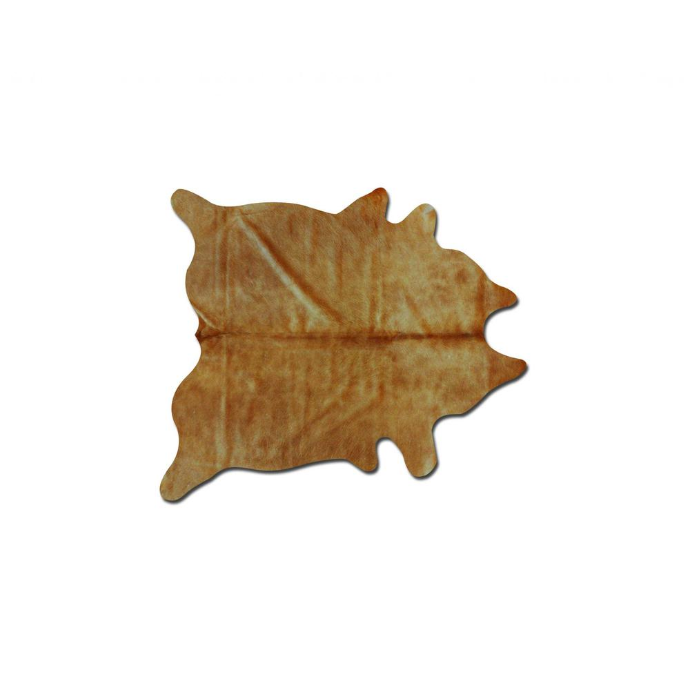 """60"""" x 84"""" Tan Cowhide - Area Rug - 317305. Picture 1"""
