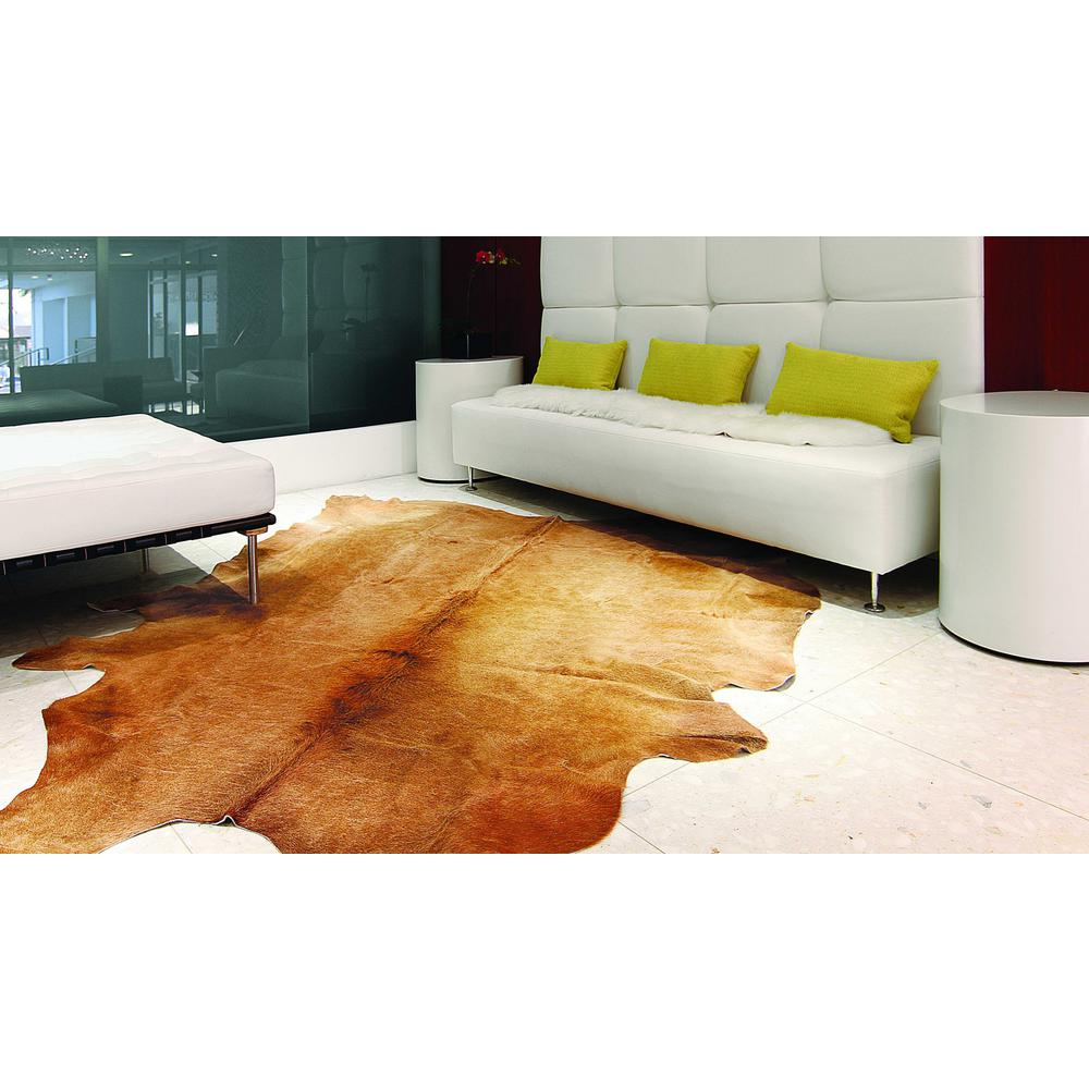 """60"""" x 84"""" Tan Cowhide - Area Rug - 317305. Picture 2"""