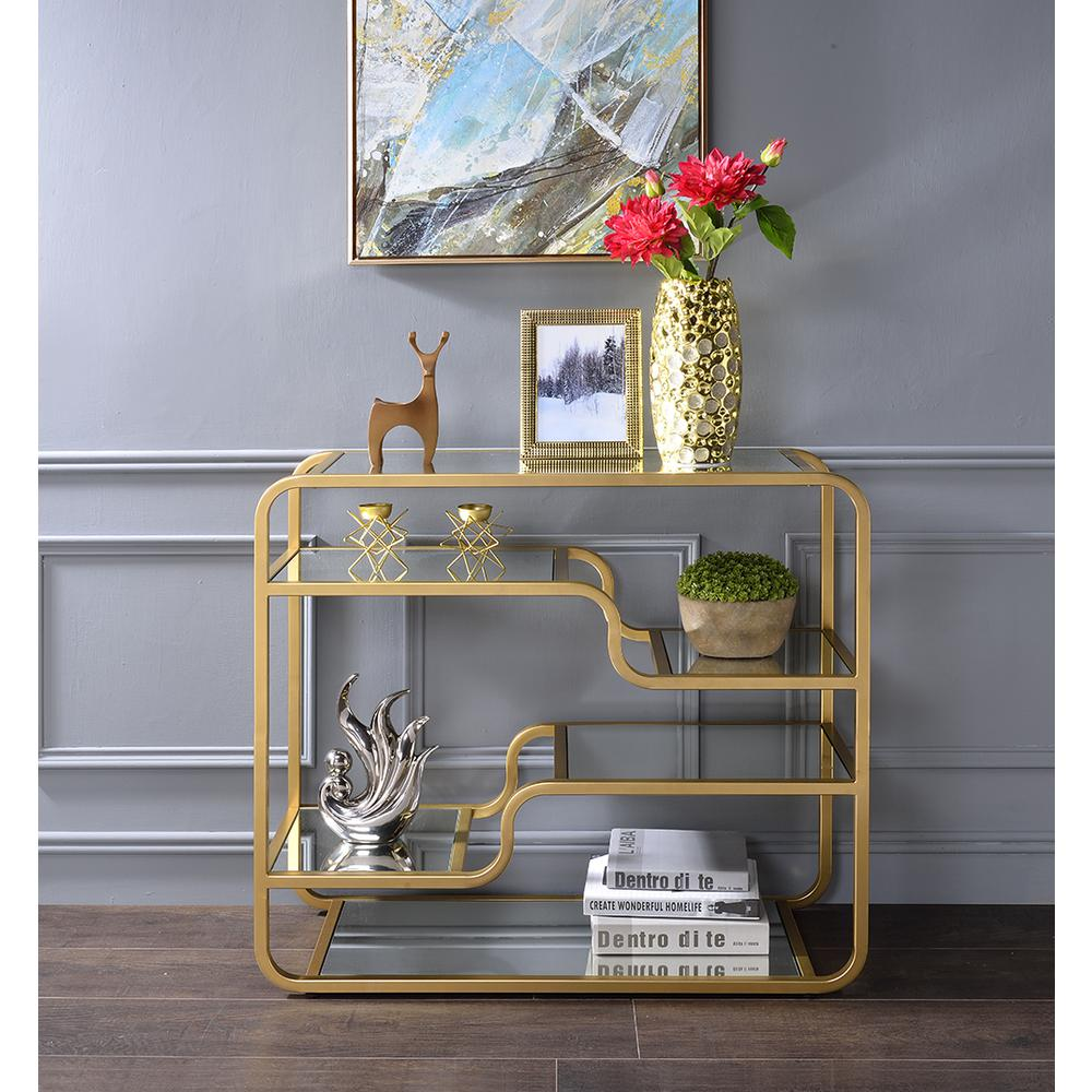 Modern yet Retro Gold And Glass Bar Table - 319009. Picture 5