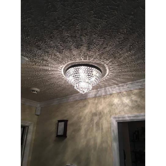Drimil Antique Bronze Crystal Ceiling Lamp - 320414. Picture 3