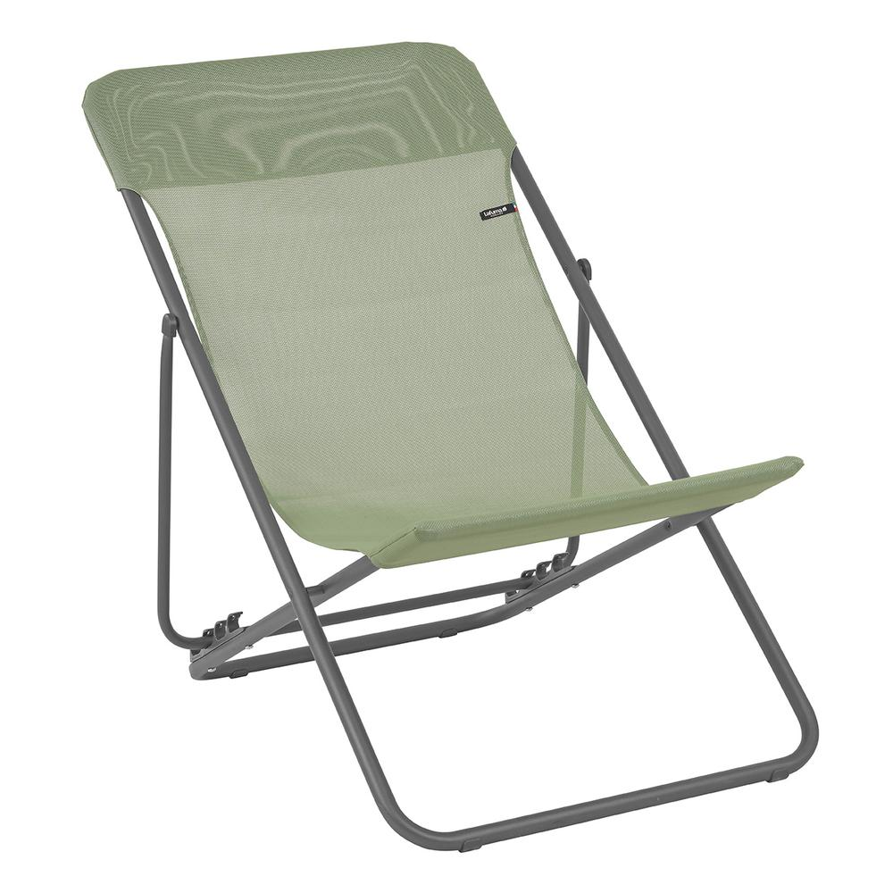 Set of 2 Moss Green European Folding Beach Chairs - 320613. Picture 1