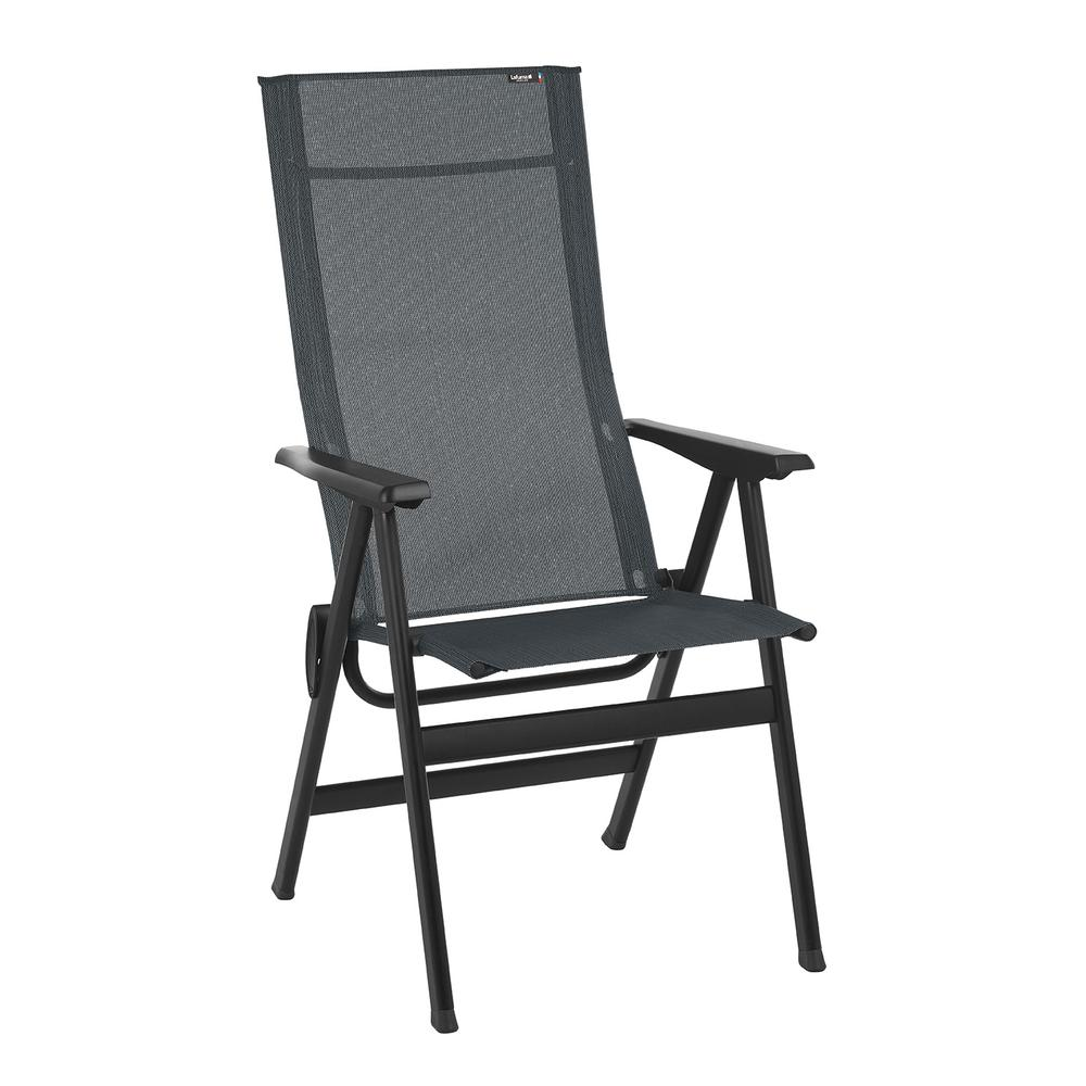 High-back chair - Black Steel Frame - Obsidian Duo Fabric - 320642. Picture 1