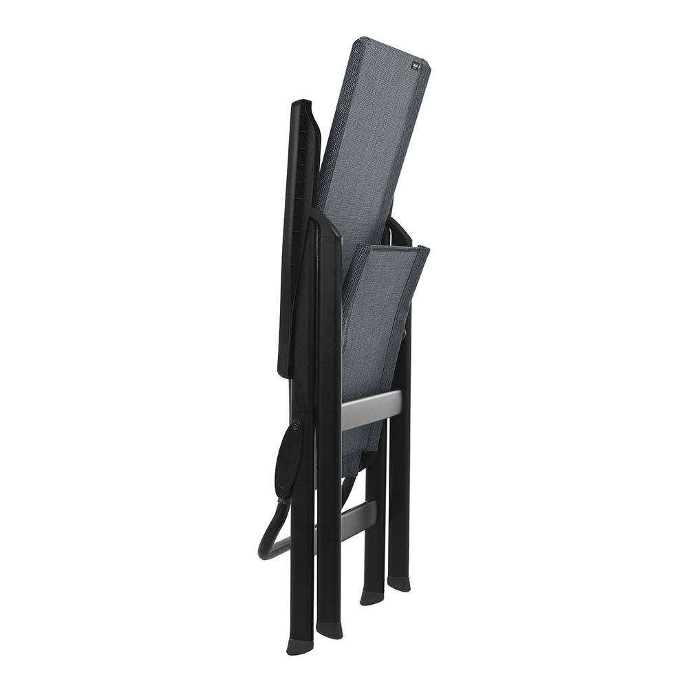High-back chair - Black Steel Frame - Obsidian Duo Fabric - 320642. Picture 2
