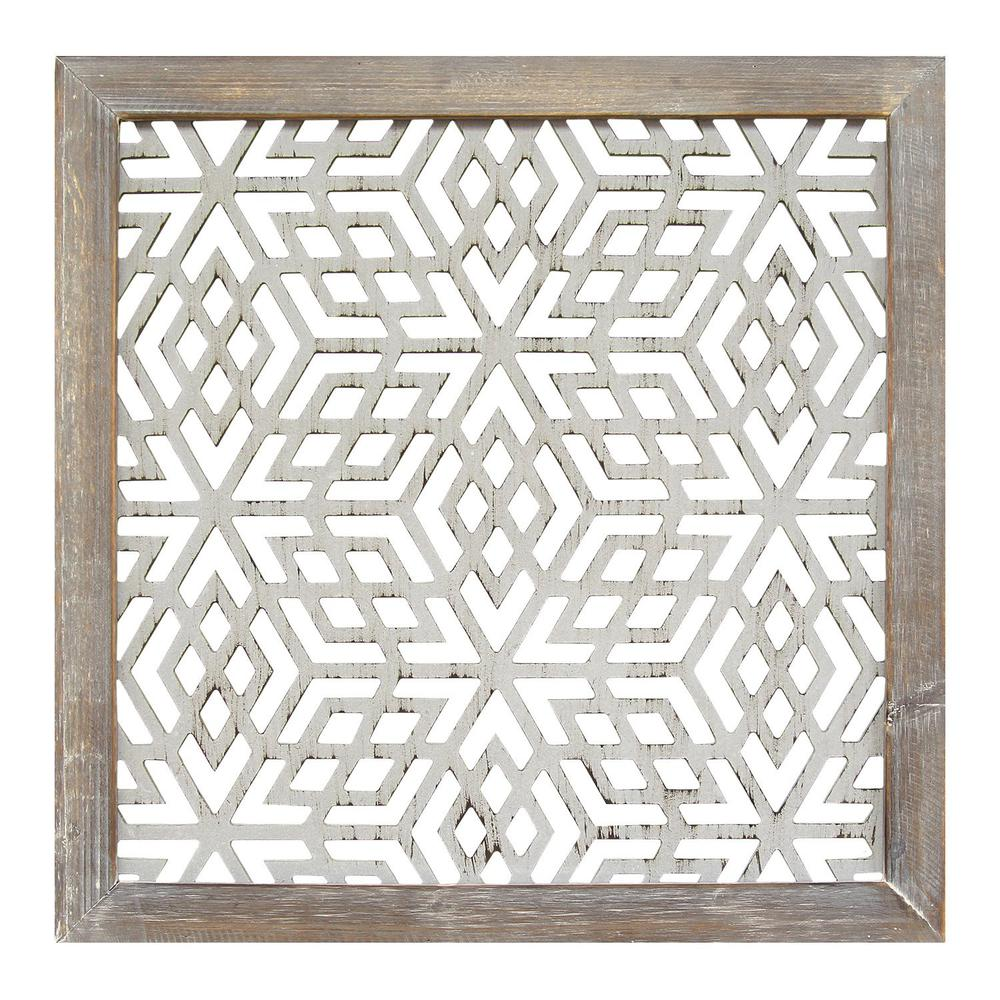 Wood Framed and Metal Laser-Cut Wall Decor - 321078. Picture 1