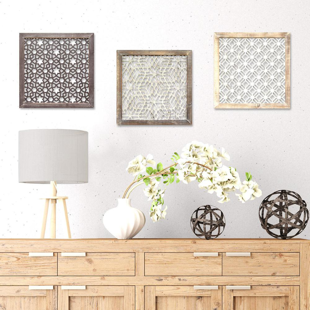 Wood Framed and Metal Laser-Cut Wall Decor - 321078. Picture 2