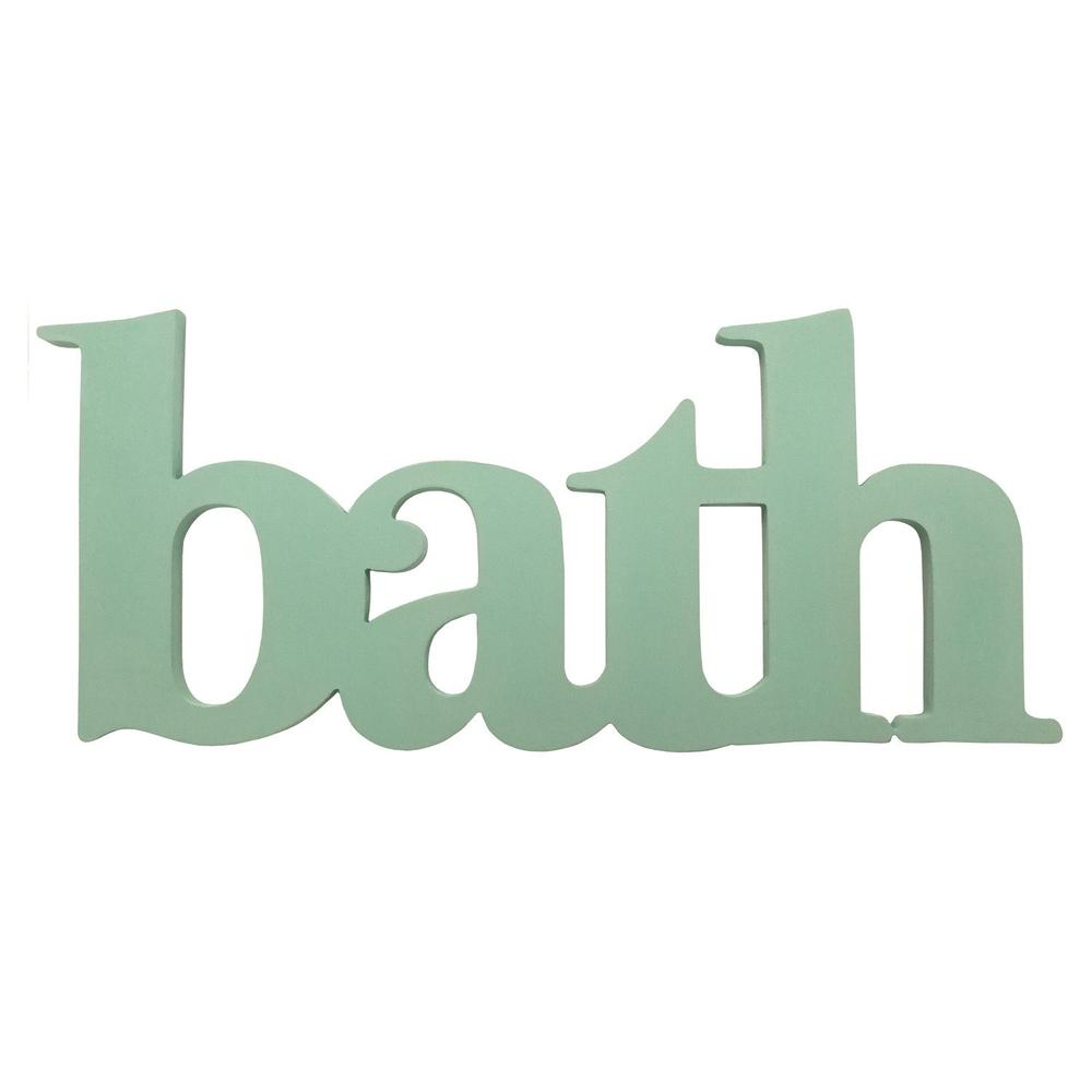 Seafoam Green Bath Word Wall Decor - 321158. Picture 1