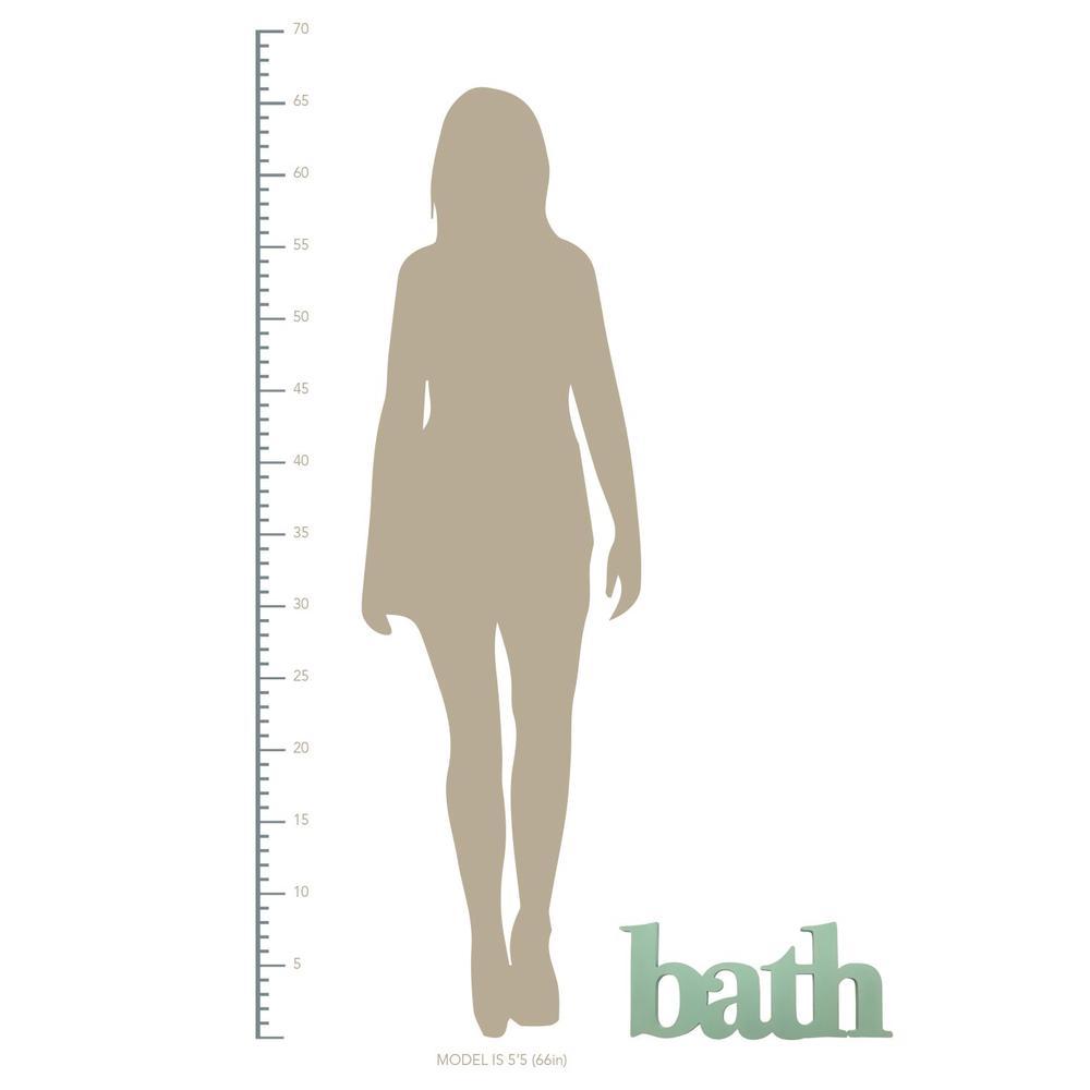 Seafoam Green Bath Word Wall Decor - 321158. Picture 3
