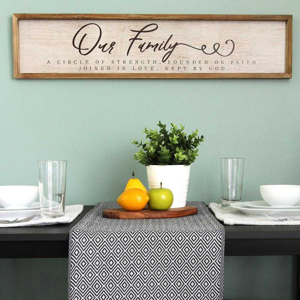 Our Family Wooden and Metal Wall Decor - 321211. Picture 2